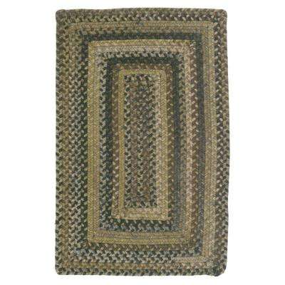 Cabin Grecian Green 4 ft. x 6 ft. Braided Area Rug