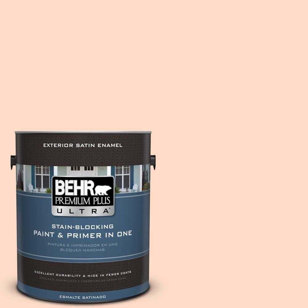 BEHR Premium Plus Ultra 1-gal. #230A-2 Beach Trail Satin Enamel Exterior Paint