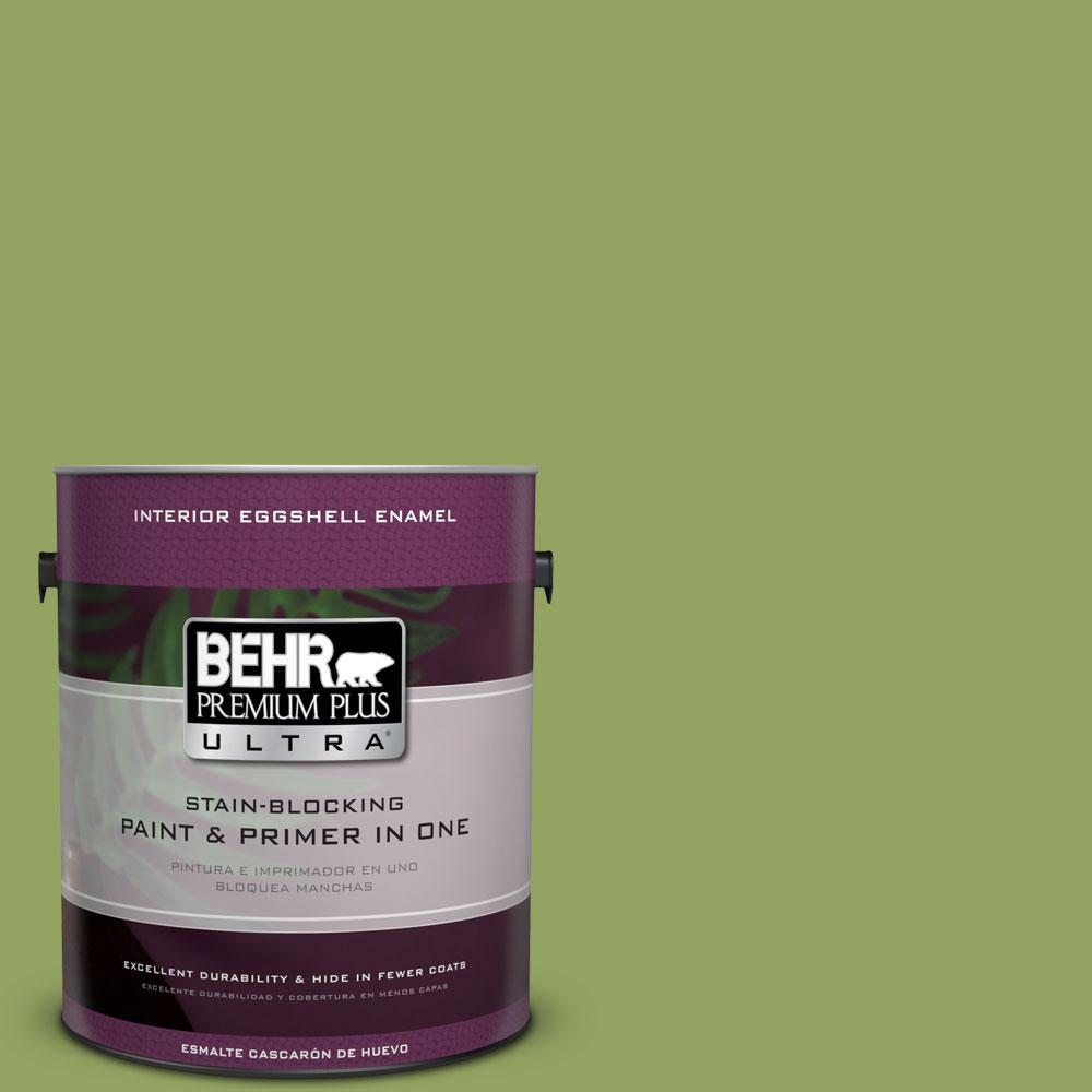 BEHR Premium Plus Ultra Home Decorators Collection 1-gal. #HDC-MD-15 Zesty Apple Eggshell Enamel Interior Paint