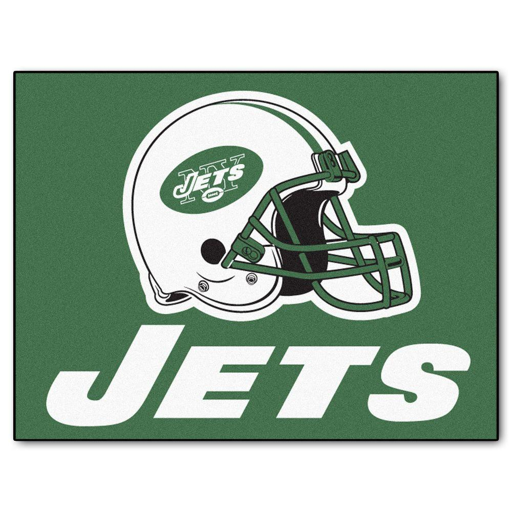 FANMATS New York Jets 2 Ft. 10 In. X 3 Ft. 9 In. All-Star