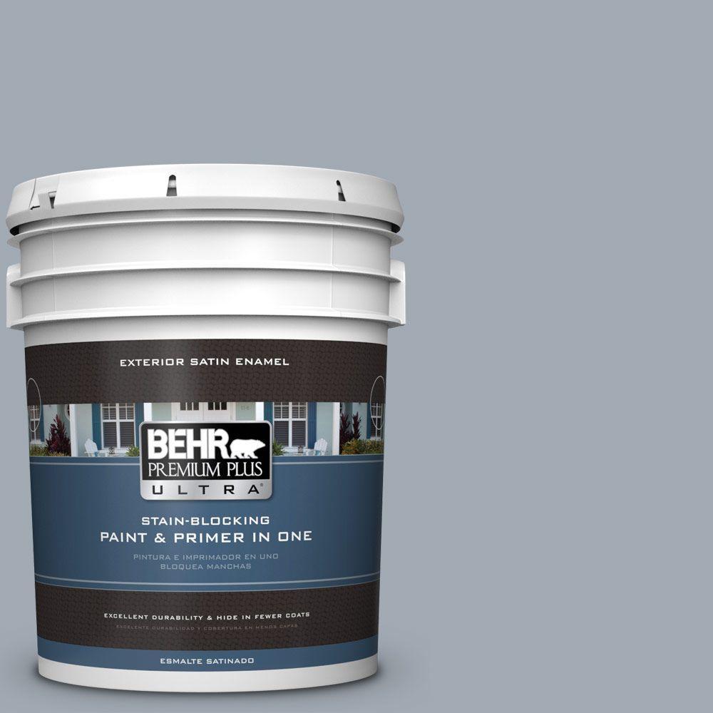 BEHR Premium Plus Ultra 5-gal. #T13-6 Twilight Satin Enamel Exterior Paint