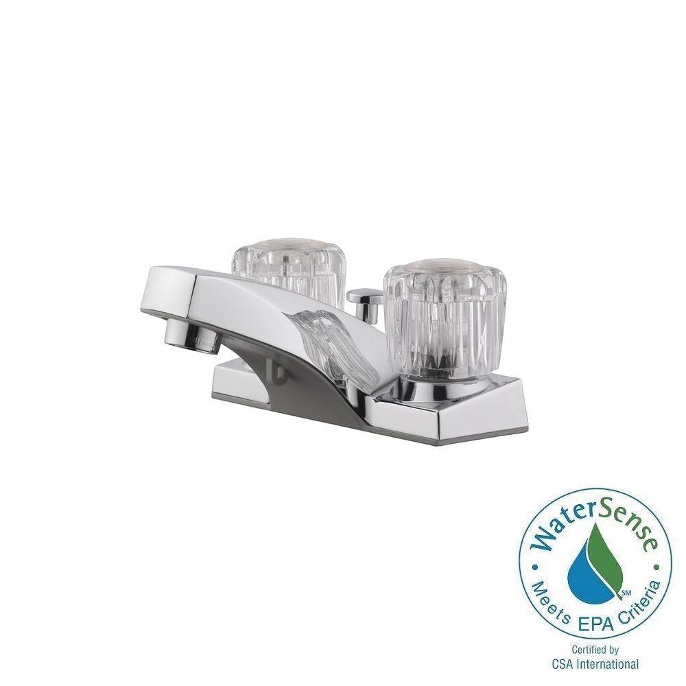 Dual Handle Faucet Lever Handle Polished Chrome