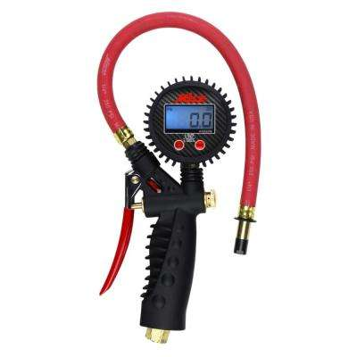 Pro Digital Pistol Grip Inflator Gauge with Straight Chuck and 15 in. Hose