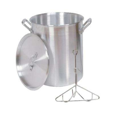 30 qt. Aluminum Turkey Pot with Lid Lifting Rack and Hook