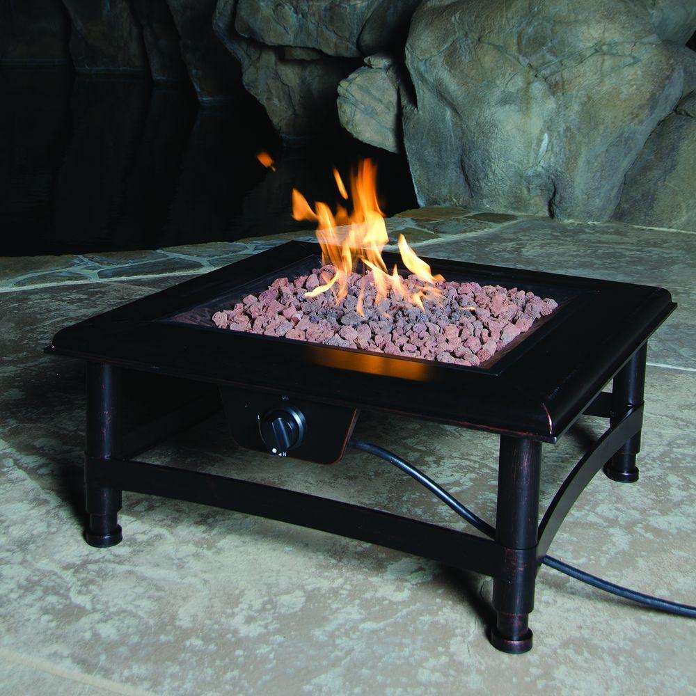 Bond Manufacturing Titan 34 in. Square Steel Propane Fire Pit