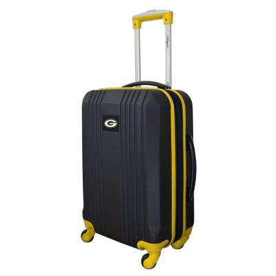 NFL Green Bay Packers Yellow 21 in. Hardcase 2-Tone Luggage Carry-On Spinner Suitcase