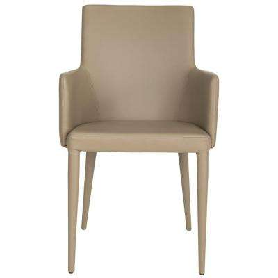 Summerset Taupe Bicast Leather Arm Chair