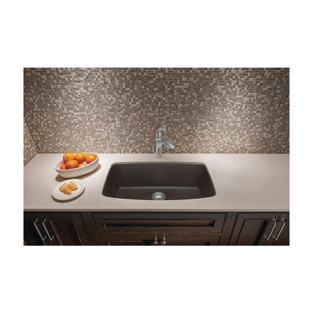 Surprising Blanco Valea Undermount Granite Composite 32 In Single Bowl Kitchen Sink In Cafe Brown Spiritservingveterans Wood Chair Design Ideas Spiritservingveteransorg