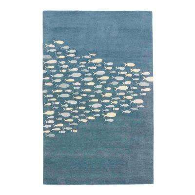 Captain's Blue 2 ft. x 3 ft. Animal Area Rug