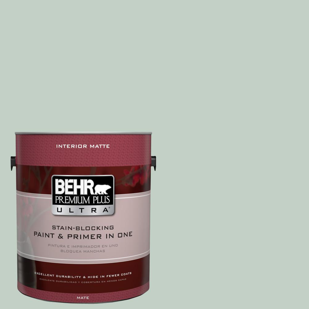 BEHR Premium Plus Ultra 1 gal. #UL220-13 Frosted Jade Interior Flat Enamel Paint