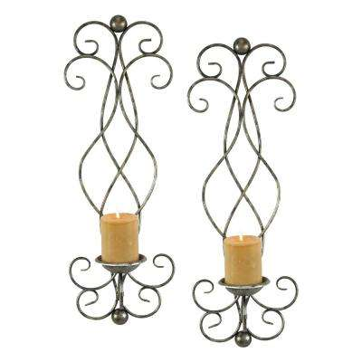 Estelle Silver Candle Wall Sconce (Set of 2)