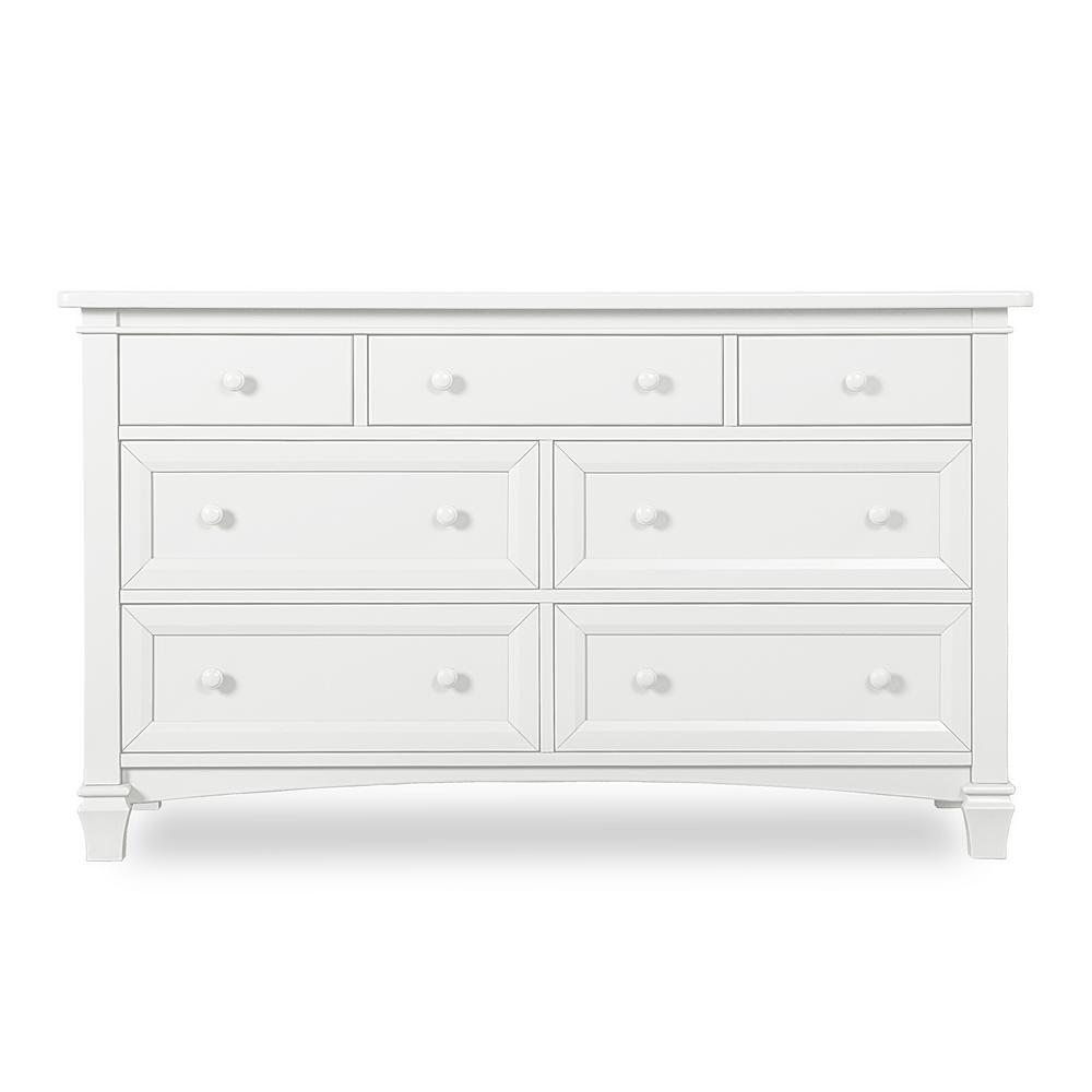 6-Drawer Fairbanks White Double Dresser