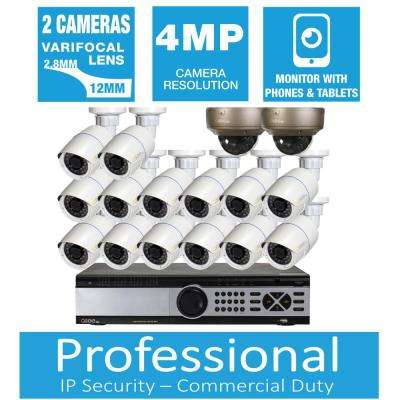 Freedom Series 16-Channel 4MP 4TB Network Video Recorder with (16) 4MP High Definition Cameras