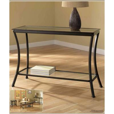 Mendocino Bronze/Black Console Table