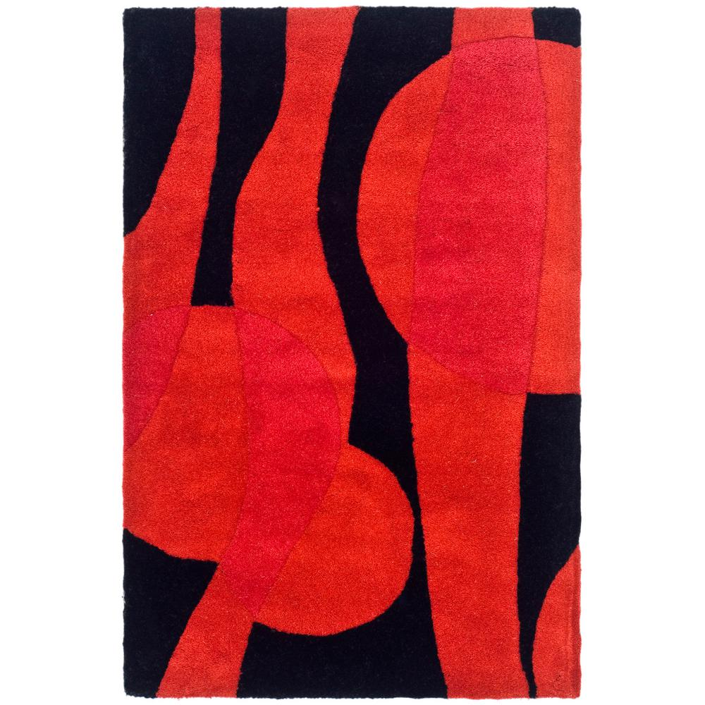 Soho Black/Red 2 ft. x 3 ft. Area Rug