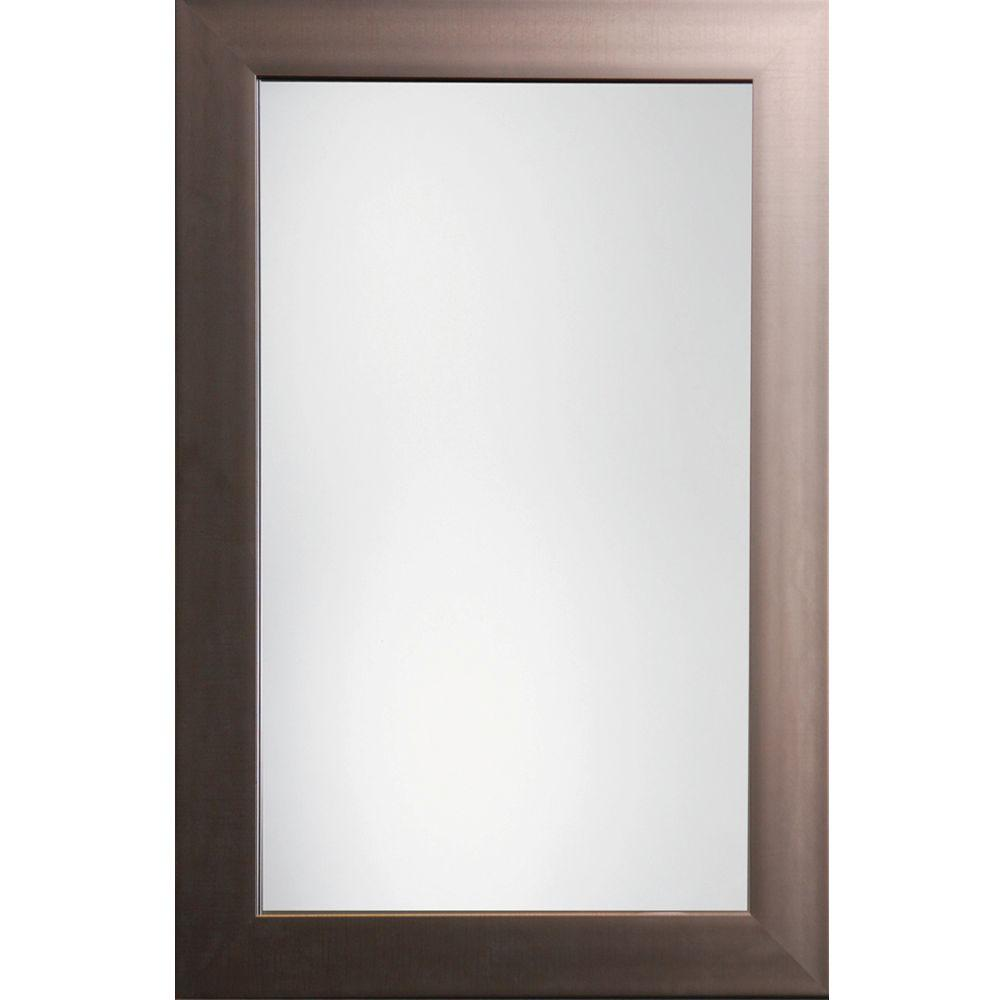 null Austin 36 in. x 24 in. Pewter Traditional Beveled Framed Mirror