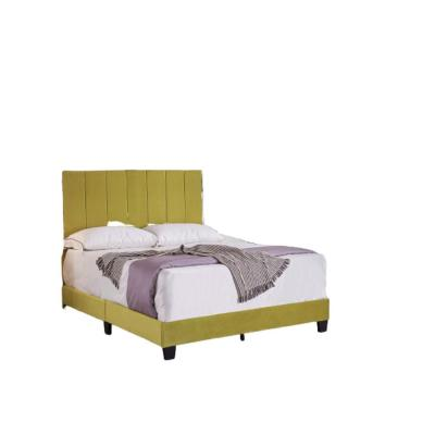 Mallory  Golden Yellow Twin Upholstered Platform Bed