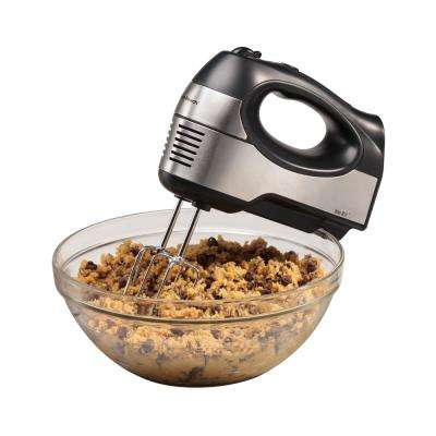 6 Speed Black & Stainless 6 Hand Mixer with QuickBurst