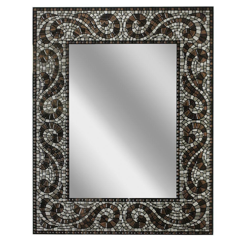 Unique Head West 22 in. x 28 in. Frameless Vanity Mirror in Espresso-8638  FV87