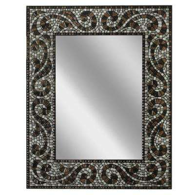 22 in. x 28 in. Frameless Vanity Mirror in Espresso