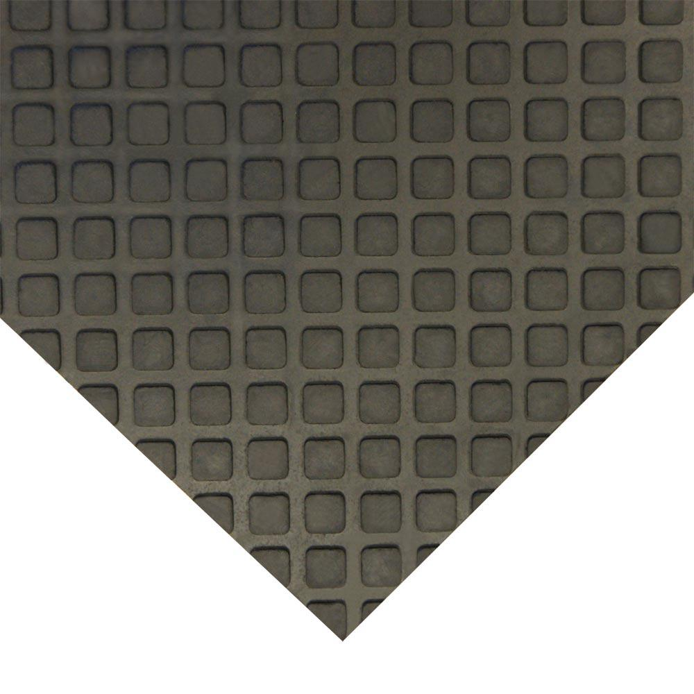 Page Flooring Inc: Rubber-Cal Maxx-Tuff 1/2 In. X 24 In. X 36 In. Black Heavy