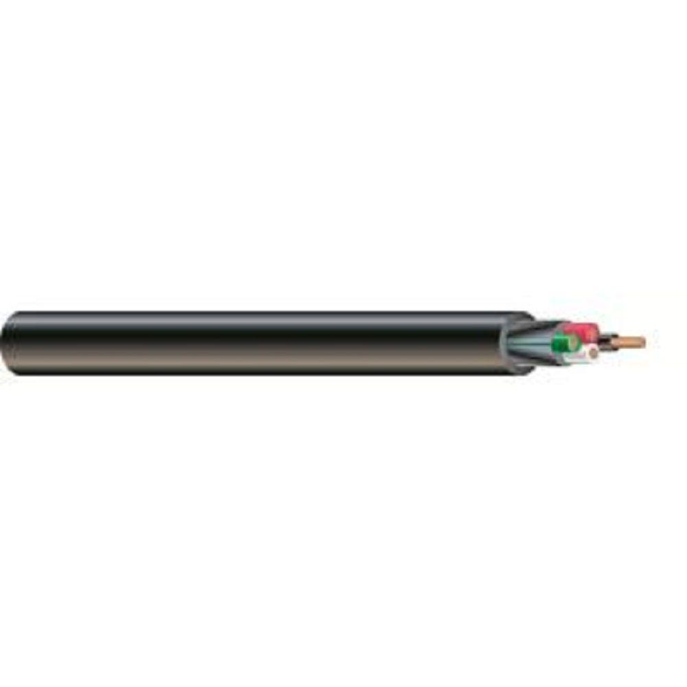 (By-the-Foot) 10/4 300-Volt CU Black Flexible Portable Power SJOOW Cord