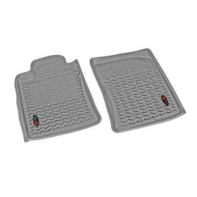 Floor Liner Front Pair Gray 2010-2013 Toyota for Runner