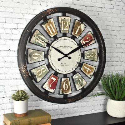 Palette Plaques Wall Clock