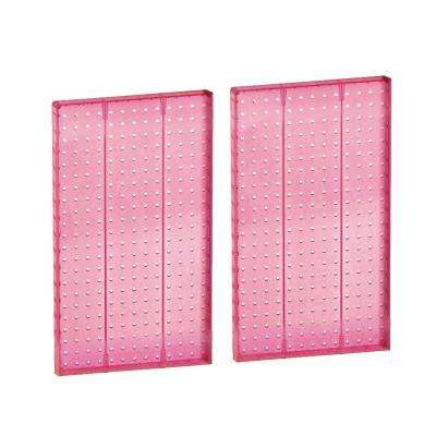 22 in H x 13.5 in W Pegboard Pink Styrene One Sided Panel (2-Pieces per Box)