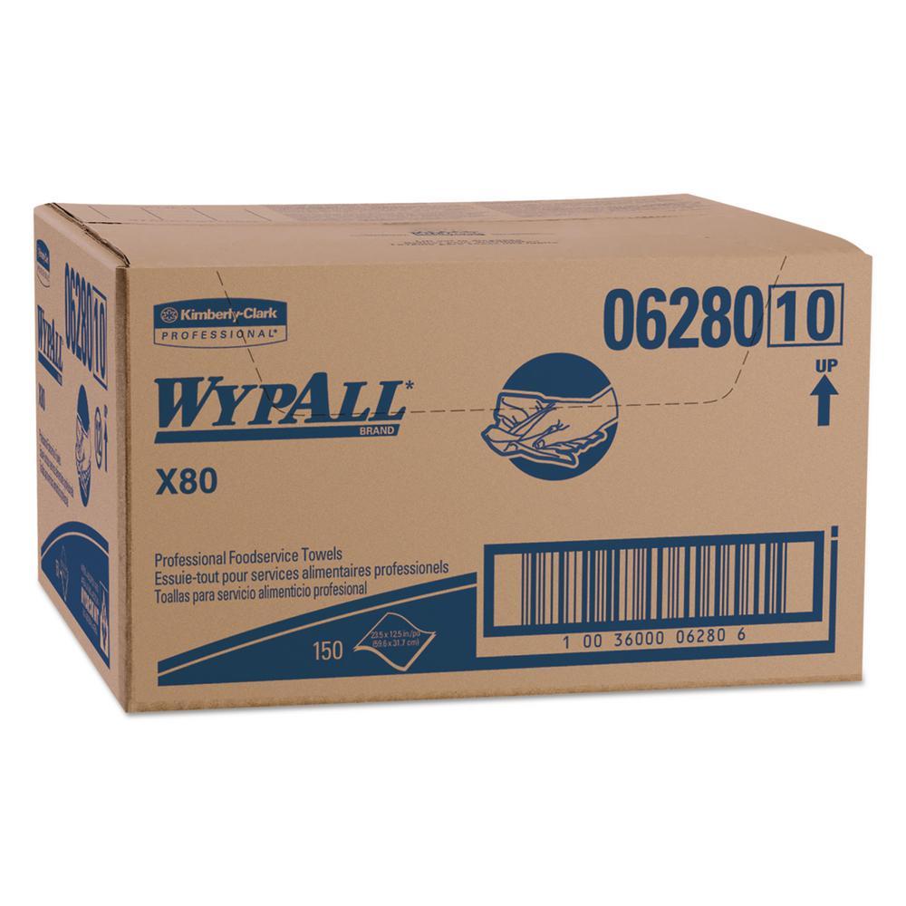 12 1/2 x 23 1/2 X80 Foodservice Towel, Kimfresh Antimicrobial Hydroknit, 150 Per Carton