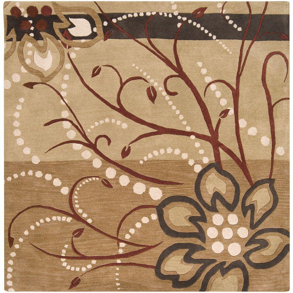 Artistic Weavers Fremont Tan Wool 6 ft. x 6 ft. Square Area Rug