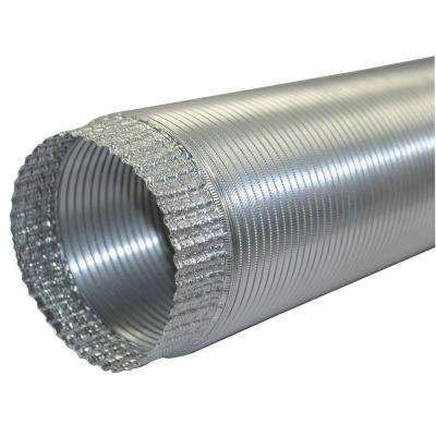 6 in. x 96 in. Aluminum Flex Pipe Crimped One End