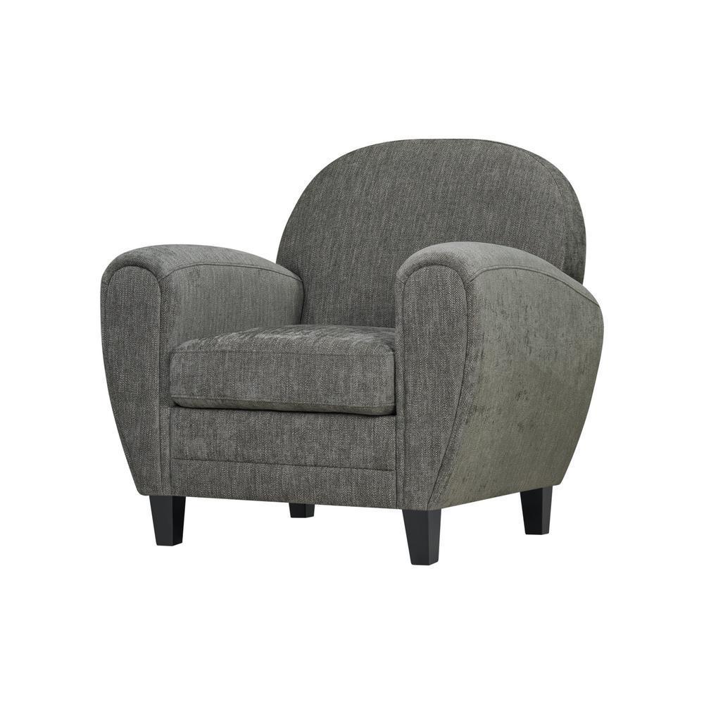 Swell Handy Living Valencia Modern Club Chair In Smoke Gray Machost Co Dining Chair Design Ideas Machostcouk