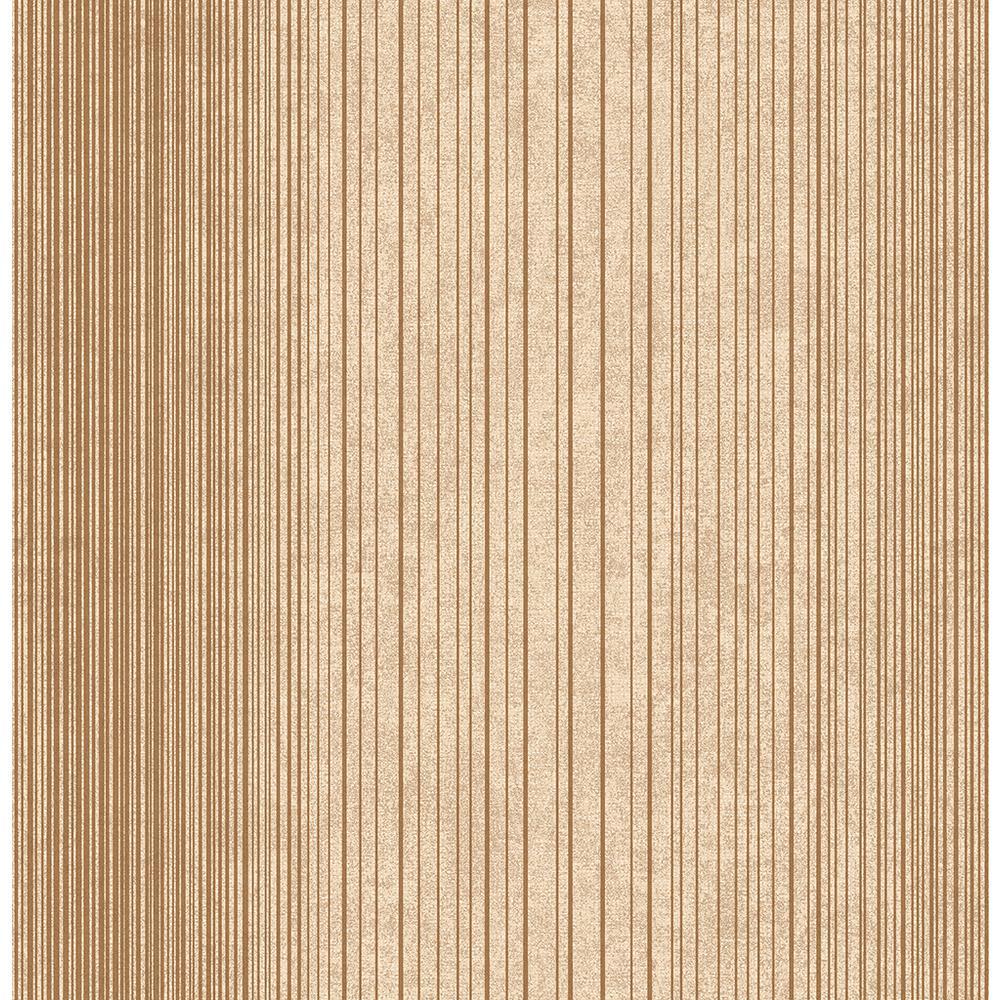 Insight Brown Stripe Wallpaper