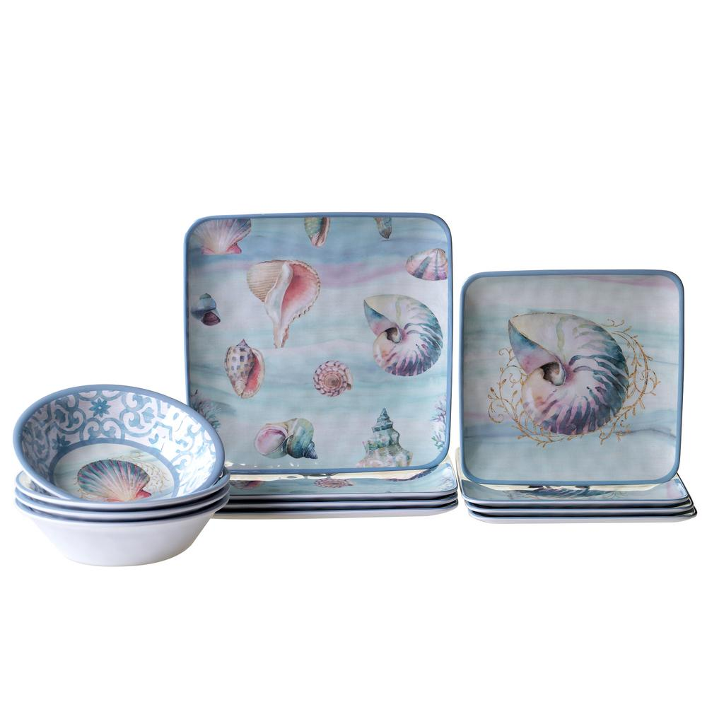 Ocean Dream 12-Piece Dinnerware Set