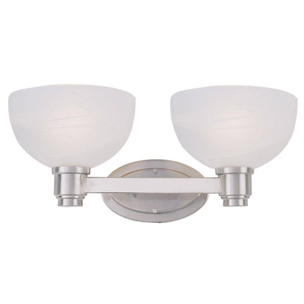 Filament Design Lawrence 2 Light Brushed Nickel Incandescent Bath Vanity Light Cli Jb314 2v Bn