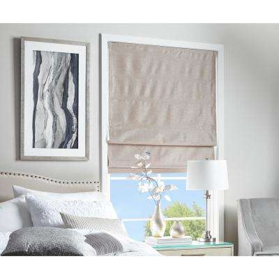 Cut To Width Strie Harmony Mocha Room Darkening Cordless Roman Shade 40 In W X 40 In L Awesome Roman Shades Bedroom Style Collection