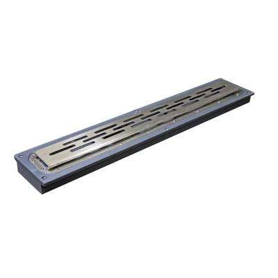 32 in. Steel Linear Shower Drain