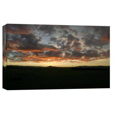 10.in x 12.in ''African Sunset'' Printed Canvas Wall Art