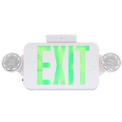 Thermoplastic LED Emergency/Exit Sign with Green Letters