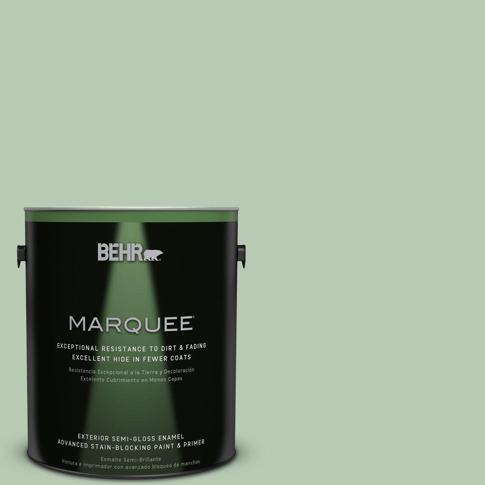 1-gal. #S400-3 Healing Aloe Semi-Gloss Enamel Exterior Paint