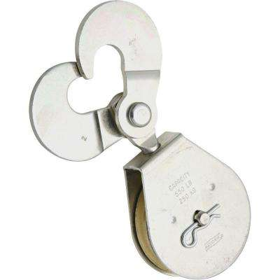 2-1/2 in. Zinc-Plated Swivel Hook Single Pulley