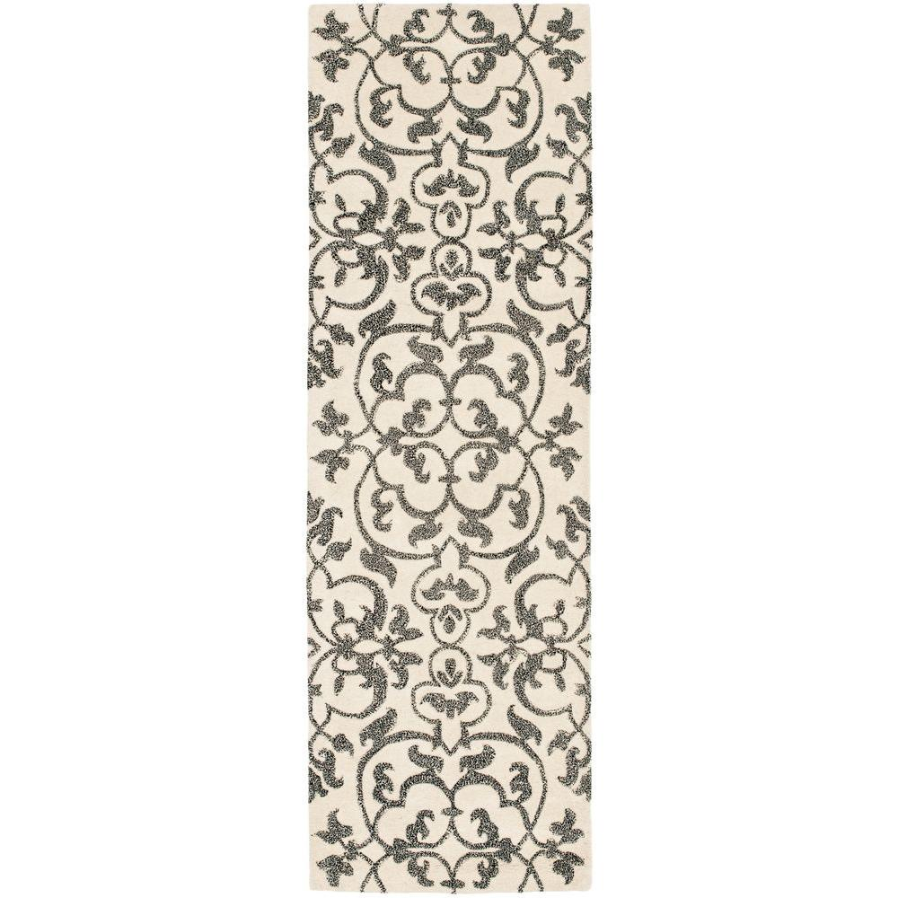 Soho Ivory/Grey 2 ft. 6 in. x 10 ft. Runner