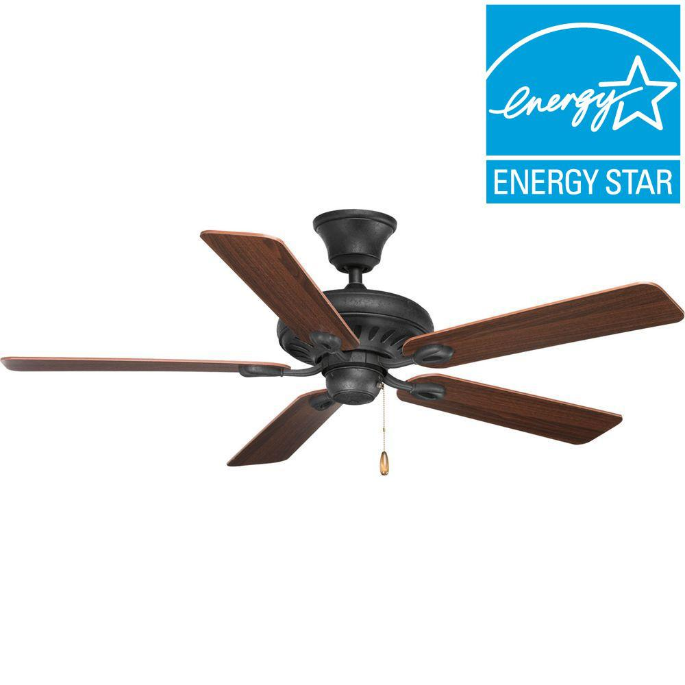 Ceiling fan energy star ceiling fan ideas progress lighting signature collection 52 in indoor fed black orient electric 48 energy star aloadofball Image collections