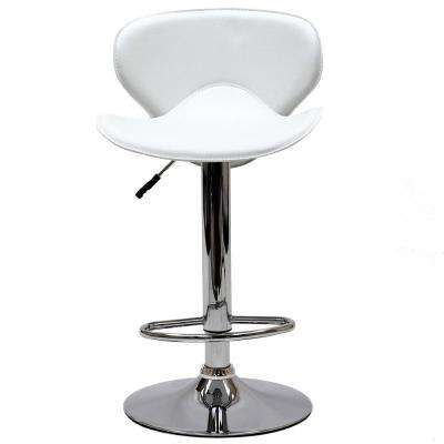 Booster 39 in. Bar Stool in White