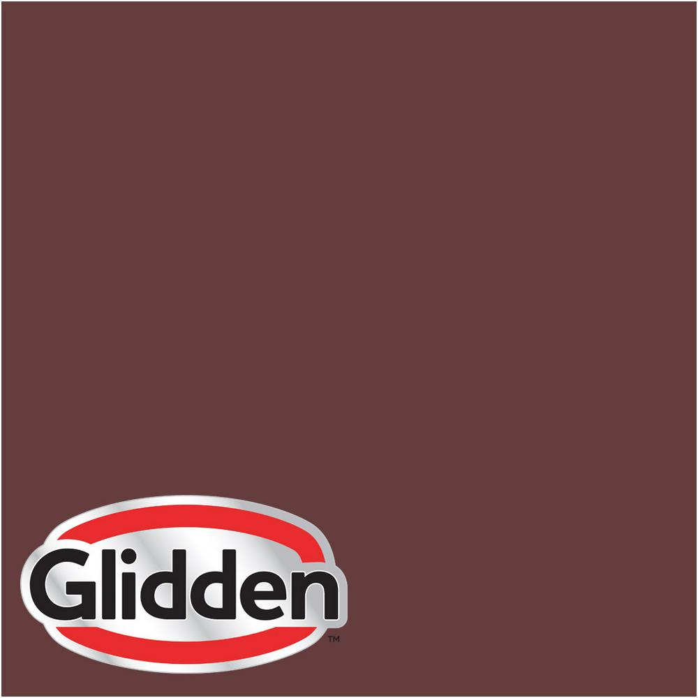 Glidden Premium 1 Gal Hdgr52d Old Mahogany Flat Latex Exterior Paint Hdgr52dpx 01f The Home Depot