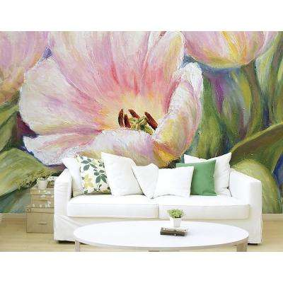 94 in. x 118 in.Tulips Wall Mural