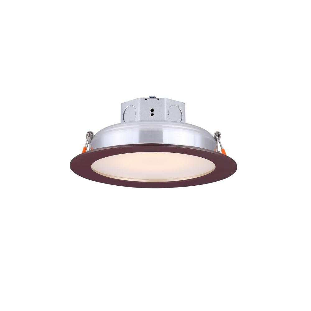 Round Slim Disk 5 50 In Bronze Warm White New Construction Recessed Integrated Led Trim Kit