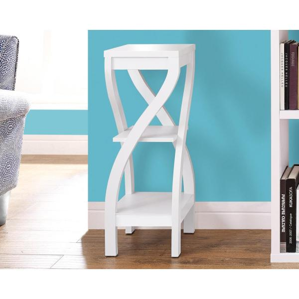 Monarch Specialties White Indoor Plant Stand I 2479