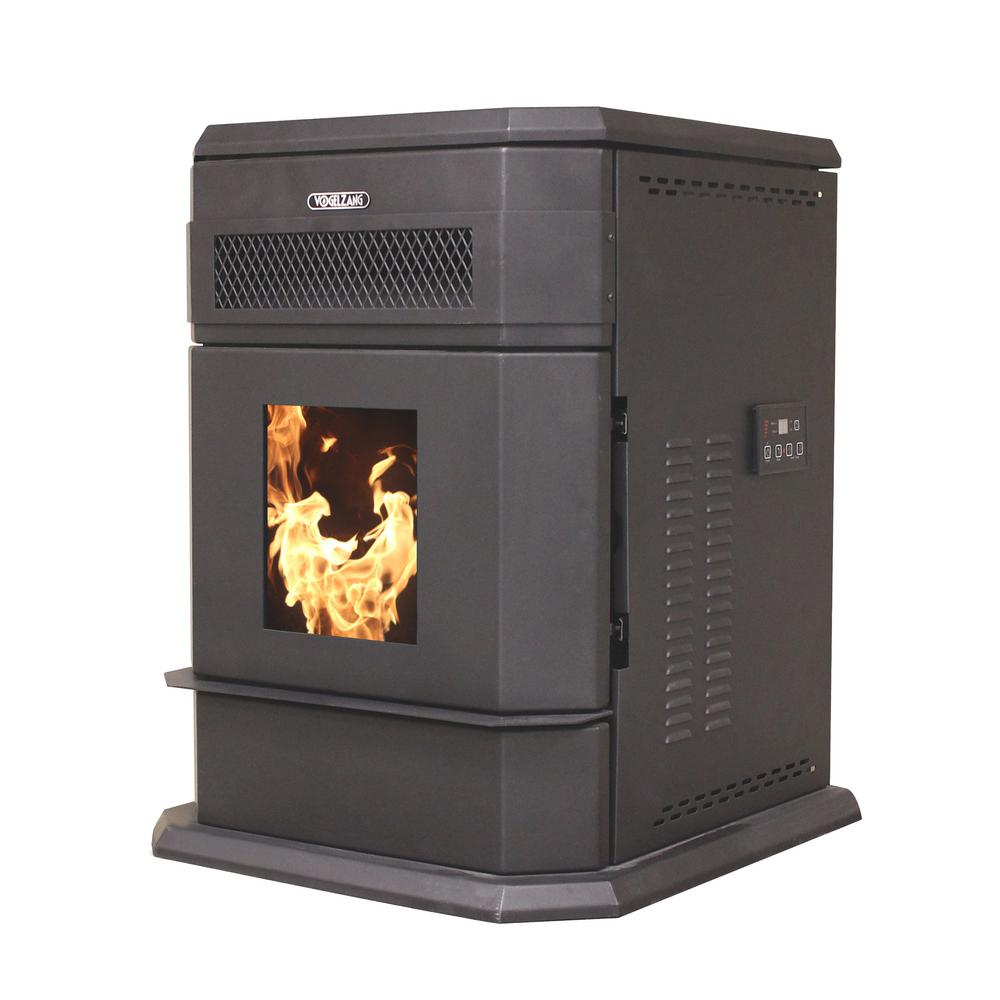 vogelzang 2200 sq ft epa certified pellet stove with 120 lb